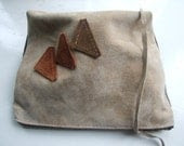 Up cycled zipper pouch / purse / small clutch - norabags