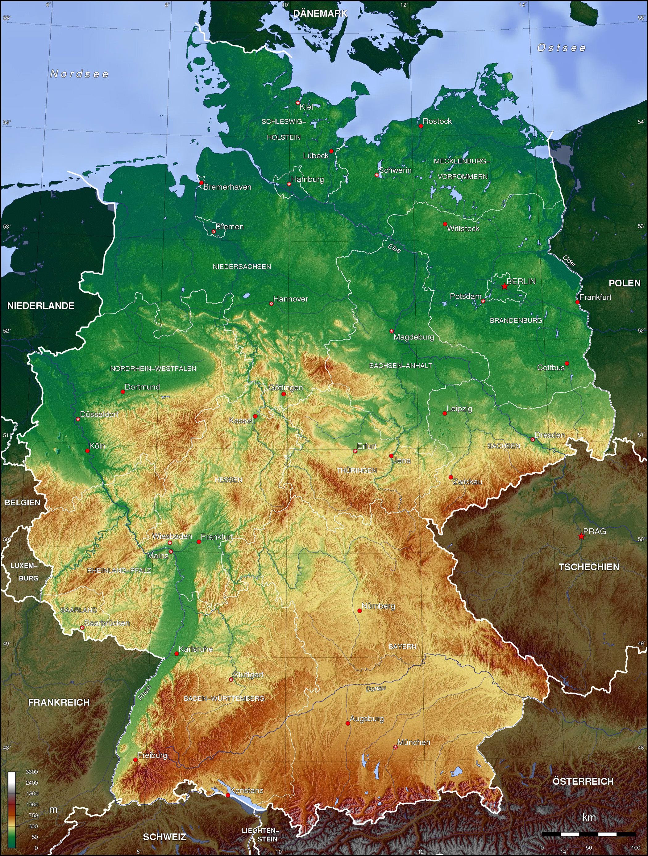 Karten von Deutschland | Karten von Deutschland zum ...