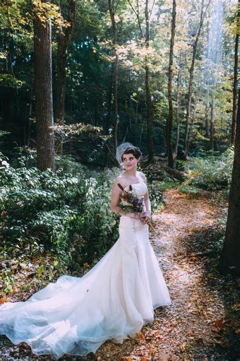 Intimate Fall Backyard Wedding in Columbus, Ohio   Junebug