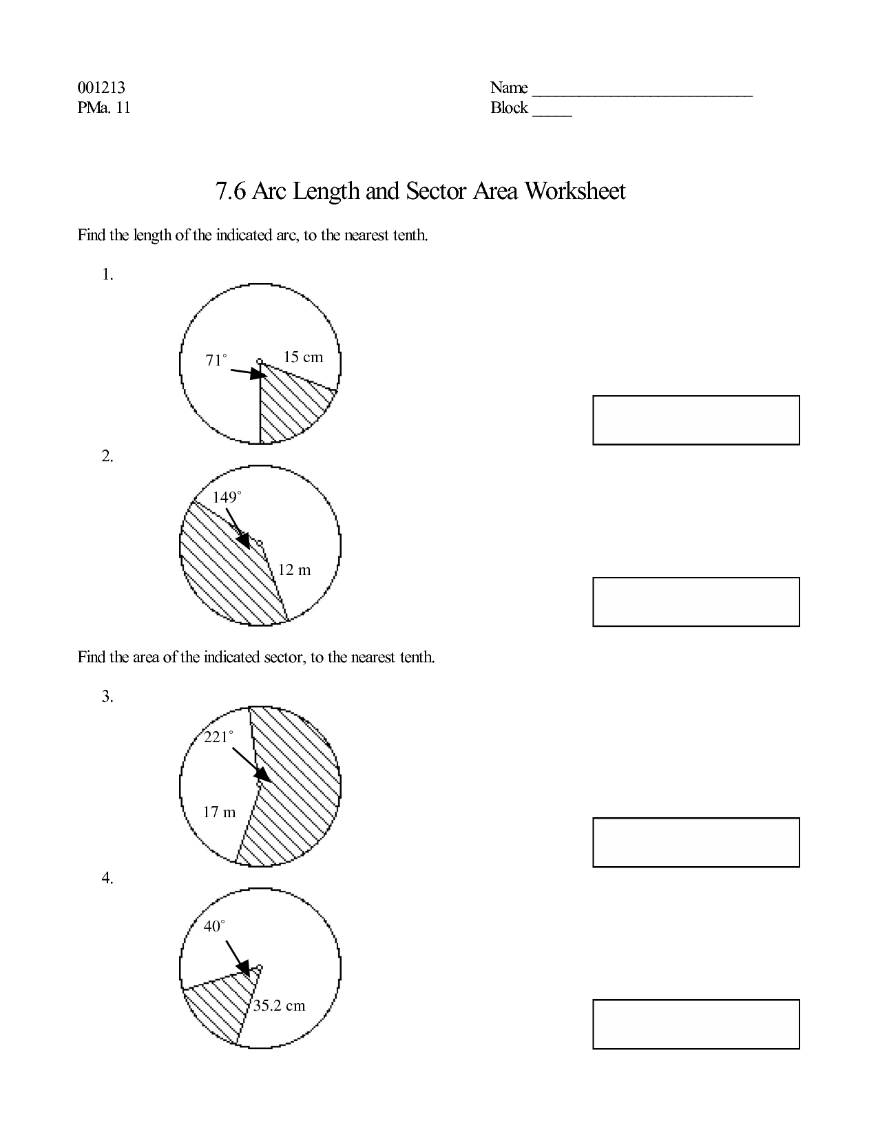 12 Best Images of Area Of A Circle Worksheet  Geometry Circle Worksheets, 6th Grade Math