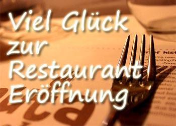 Restaurant Eröffnung Glückwünsche