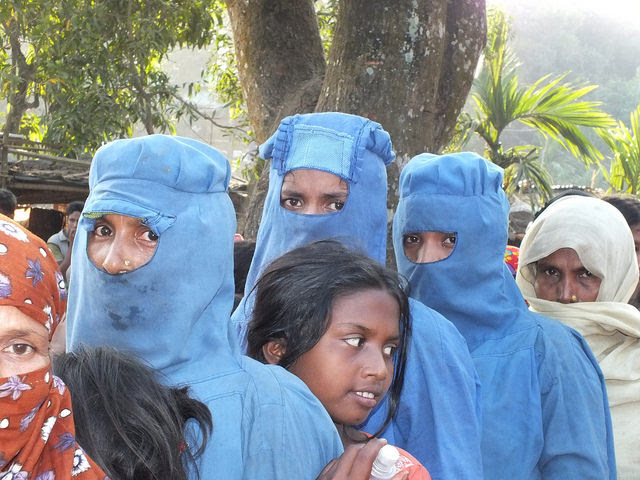 Rohingya women at Kutupalong camp. There are now over a million refugees in Bangladesh. Credit: Naimul Haq/IPS