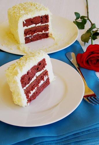 not so red velvet cake