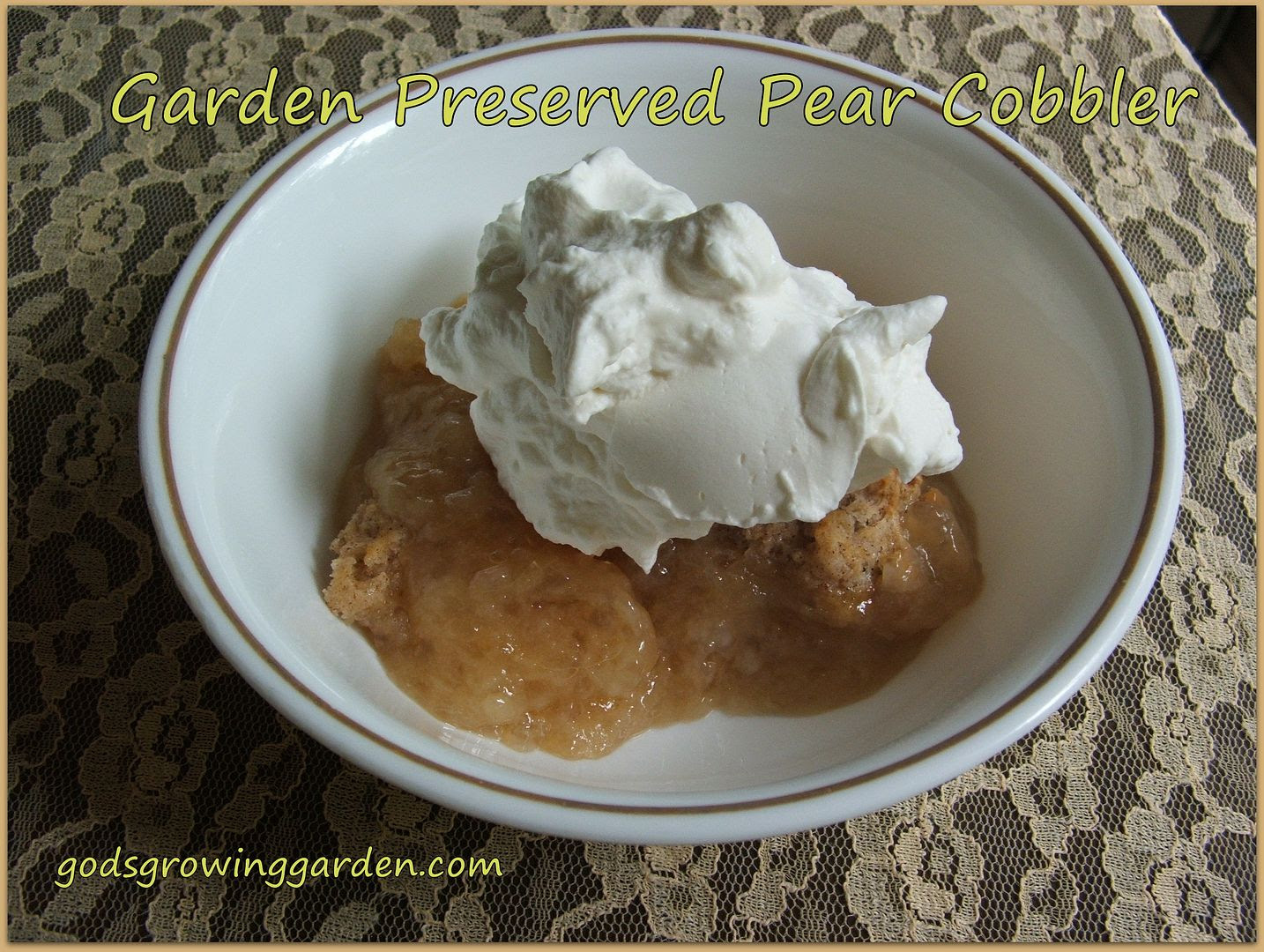 Pear Cobbler by Angie Ouellette-Tower for godsgrowinggarden.com photo 007_zps80971f7f.jpg