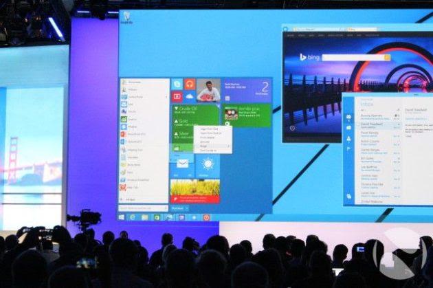 El menú de inicio se retrasa hasta 2015, quizá junto a Windows 9
