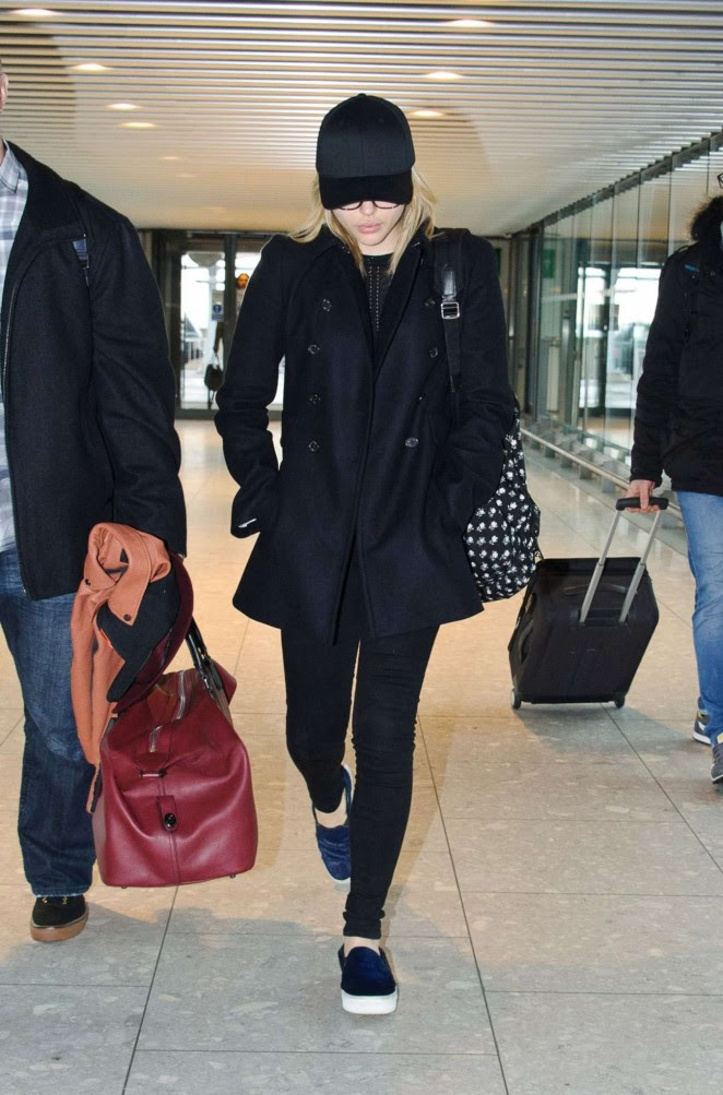 Chloe Moretz: Heathrow Airport -11