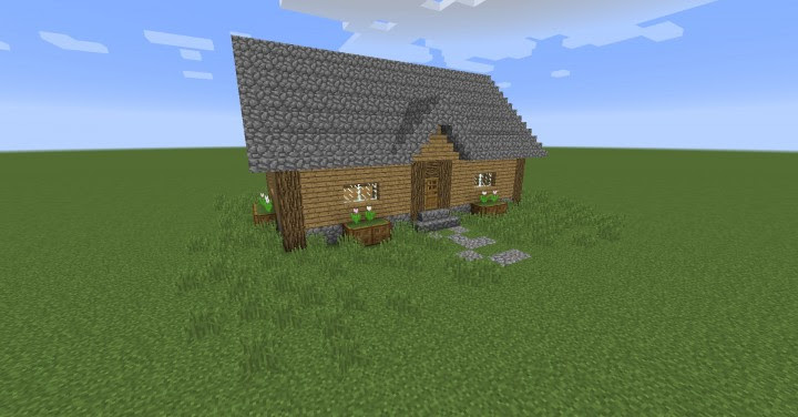Simple Wooden House Minecraft Project