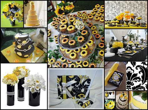 Yellow & Black Wedding   Wedding Dish
