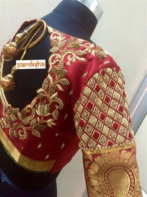 479 best sleeve designs images on Pinterest   Saree blouse