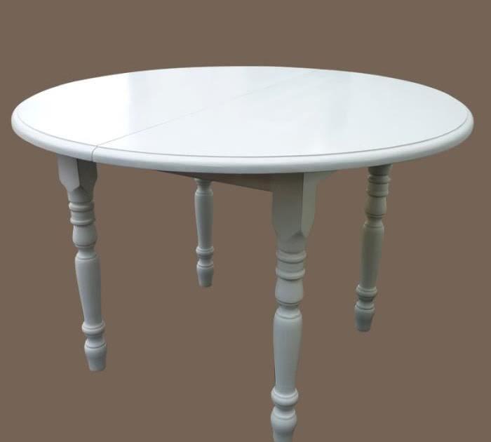Table Ronde Blanche Avec Rallonge Prix Pas Cher Table