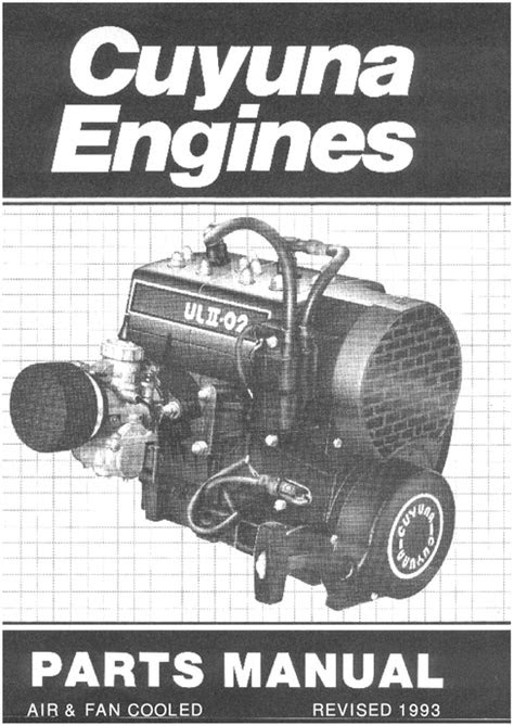 Cuyuna 2SI engine parts manual aircraft engines 430 UL2