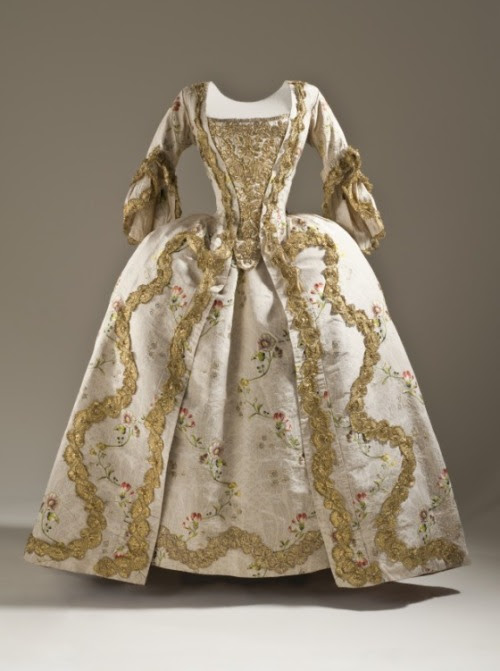 Robe à la Française 1760s The Los Angeles County Museum of Art