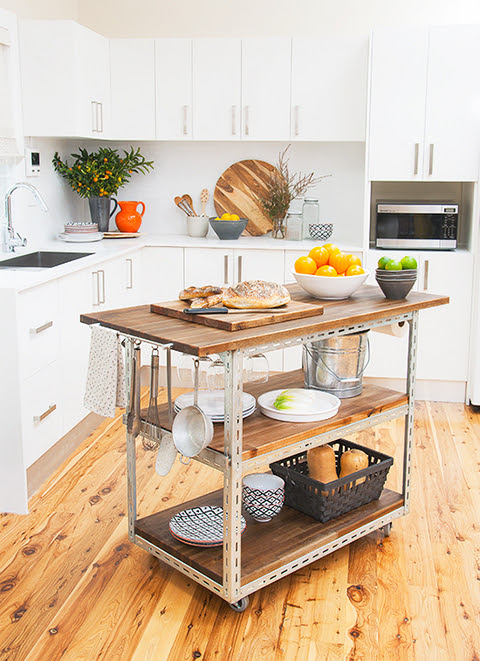 Make It: DIY Industrial Kitchen Island » Curbly | DIY ...