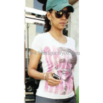 Halle Berry wearing Public Library Obama Tee