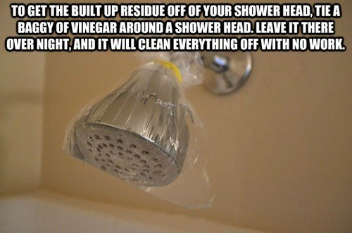 to get the built up residue off of your shower head