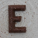 chocolate letter E
