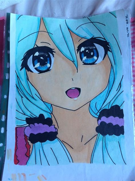 finished anime drawing   full