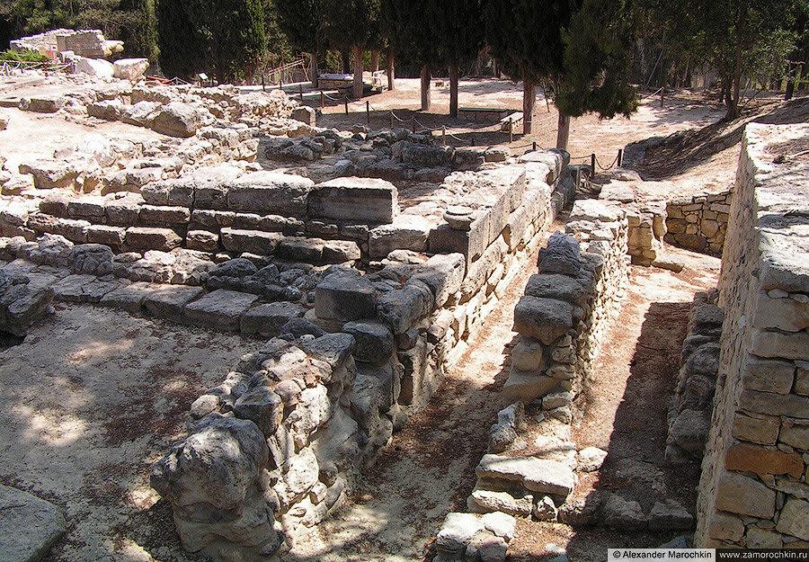 Развалины Кносского дворца на о. Крит, Греция