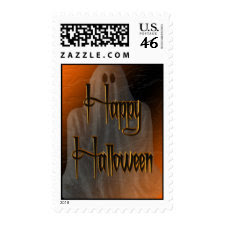 Ghostly Happy Halloween Postage stamp