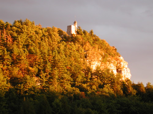 Skytop and tower, Mohonk, New York, September 10, 2001