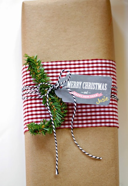 Fabric and Kraft Paper Gift Wrapping from Carmel at Our Fifth House via C.R.A.F.T.