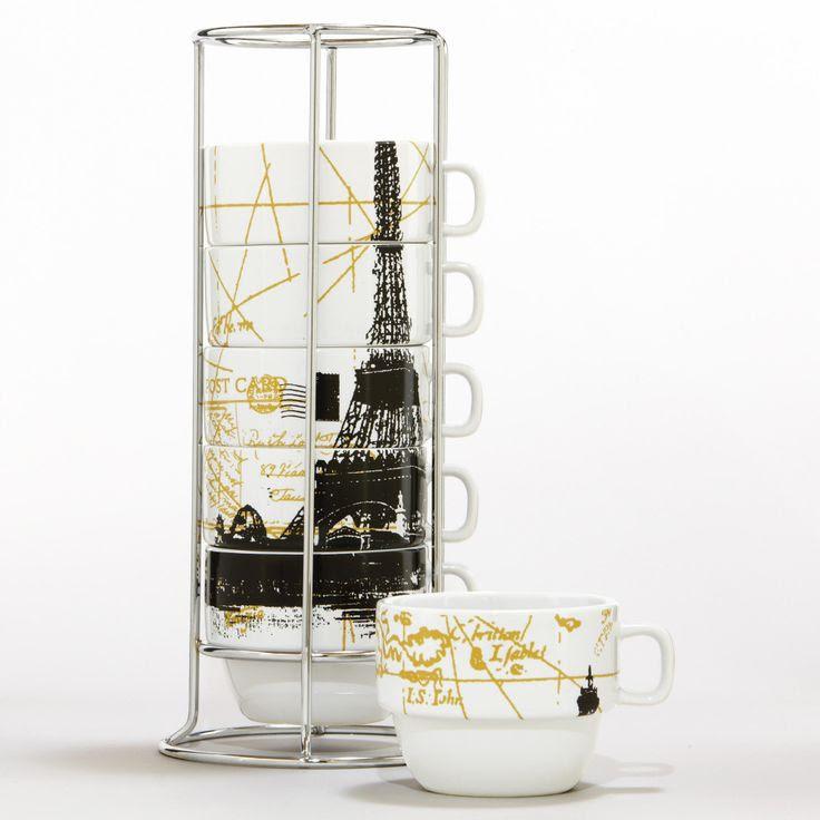 Eiffel Tower Stacking Mugs   World Market    My paris theme <
