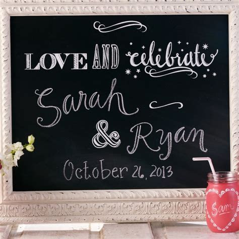 Simply Genius Chalkboard Paint Wedding Ideas