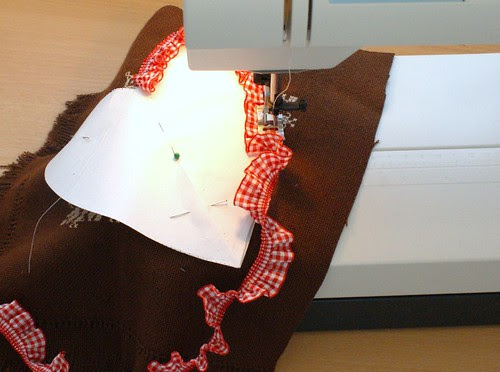 sewing a heart