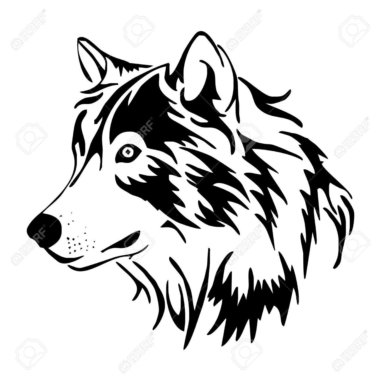 Howling Wolf Head Drawing At Getdrawingscom Free For Personal Use