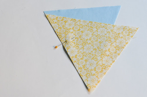 Step 6: Use a Pin to Hold Triangles Together