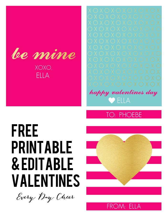 Free Printable and Editable Valentines » jenny collier blog