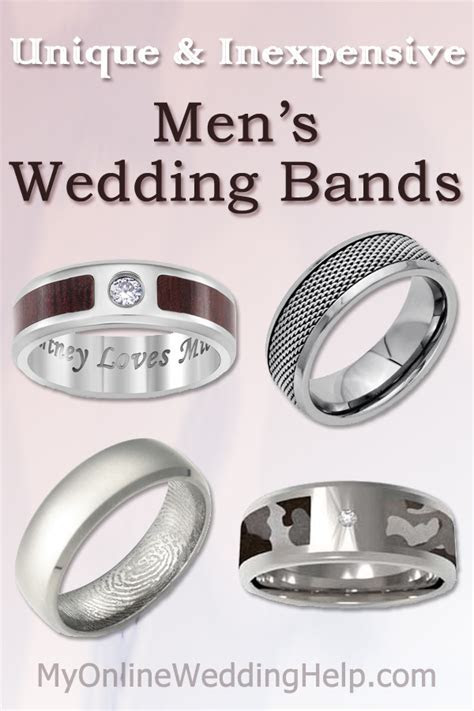 Unique & Inexpensive Men's Wedding Bands   My Online