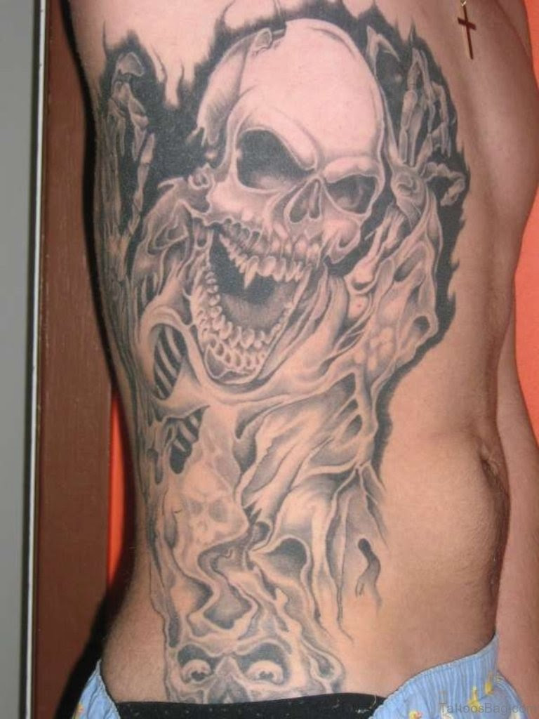 59 Fabulous Skull Tattoos For Rib