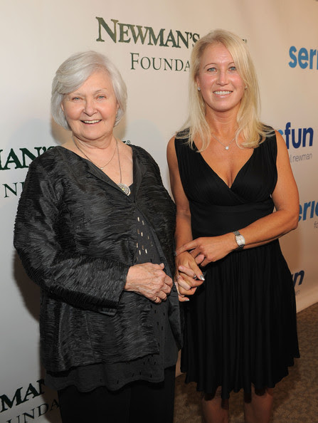 Joanne Woodward Host Joanne Woodward (L) and Claire Newman attend a Celebration of Paul Newman's Dream to Benefit the SeriousFun Children's Network at Avery Fisher Hall, Lincoln Center on April 2, 2012 in New York City.