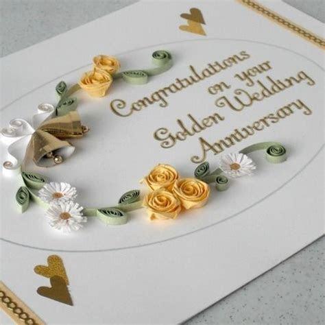 Quilled 50th anniversary card   ???????   Diamond wedding