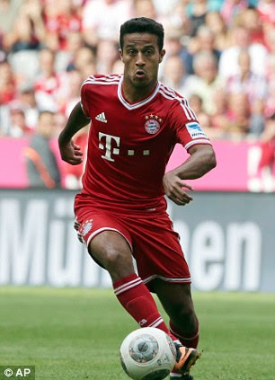 Thiago in action for Bayern