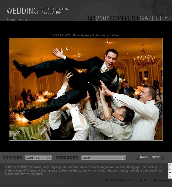 flying groom at Chicago wedding
