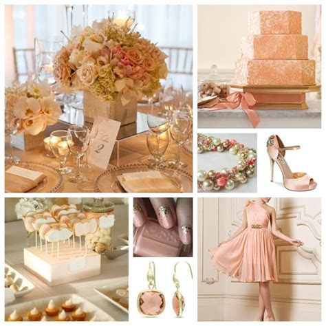17 Best images about Wedding: Peach, Pink   Gold on