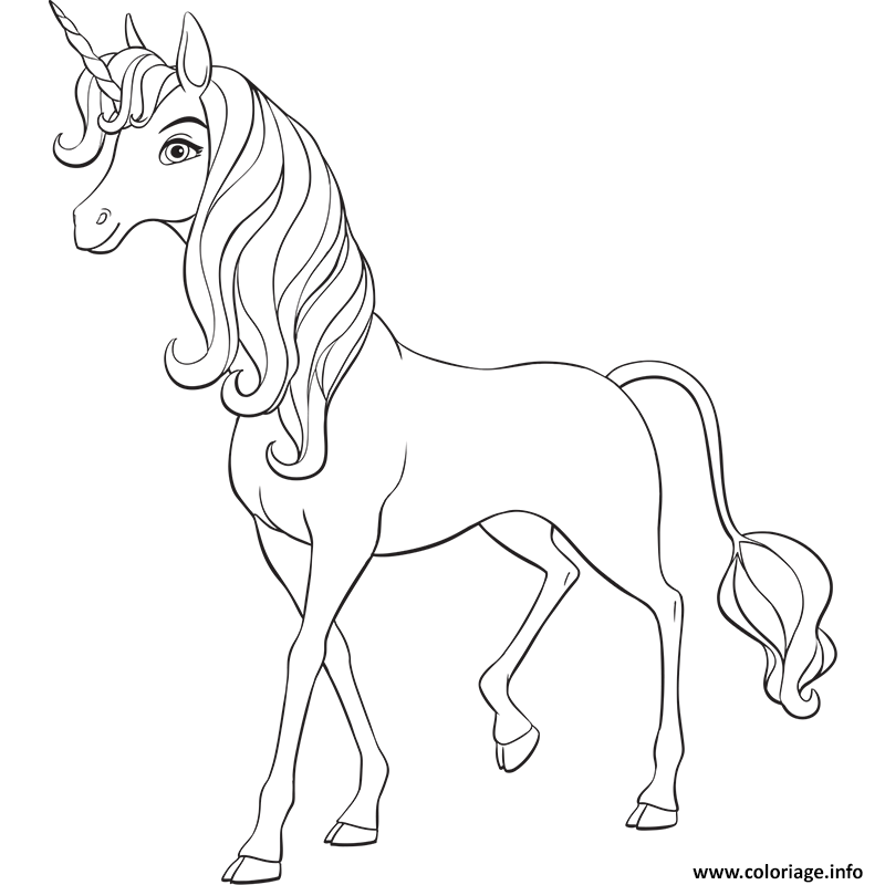 Coloriage Mia And Me Unicorn Jecoloriecom
