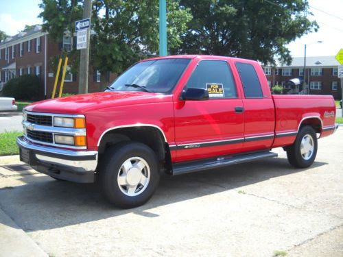 Purchase used 1998 Chevy Cheyenne 4X4 extended cab ...