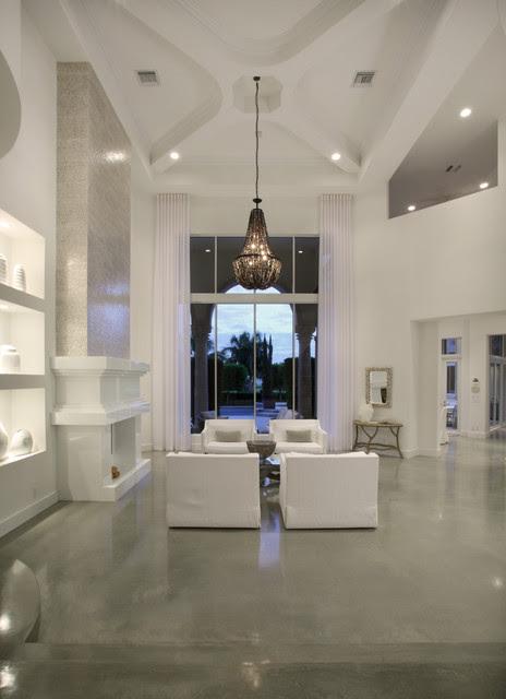 High Ceiling Living Room - Modern - Living Room - Miami ...