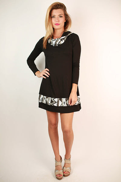 keep on sparkling tunic in black – impressions online