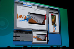 """Tor Norbye and James Gosling, General Session """"The Toy Show"""" on June 5, JavaOne 2009 San Francisco"""