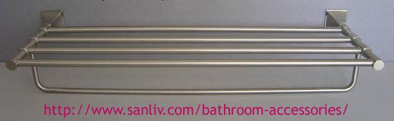 Sanliv Brushed Nickel Towel Shelf Luxury Bathroom Accessories