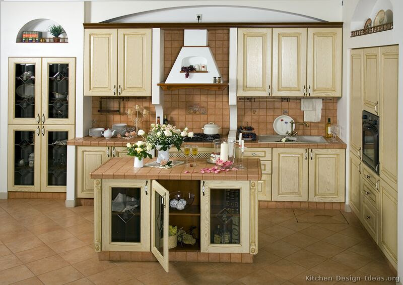 Pictures of Kitchens - Traditional - Whitewashed Cabinets (Kitchen #2)
