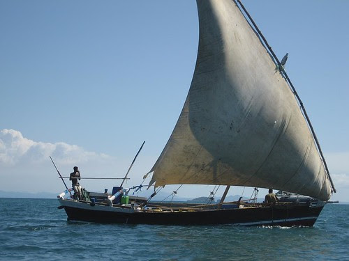 dhow on port