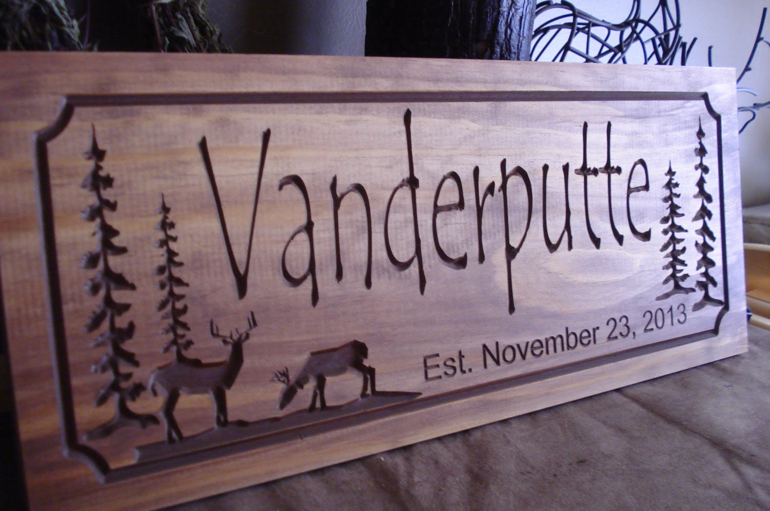 signs canada  Signs Family Name  Tree Welcome rustic Pine Last Personalized Cabin Rustic