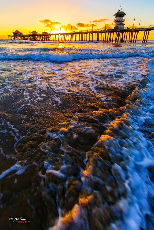 2013-10-29 Sunset Over Huntington Beach Pier-9224