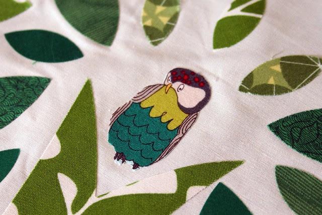 green block owl -- had to do it!