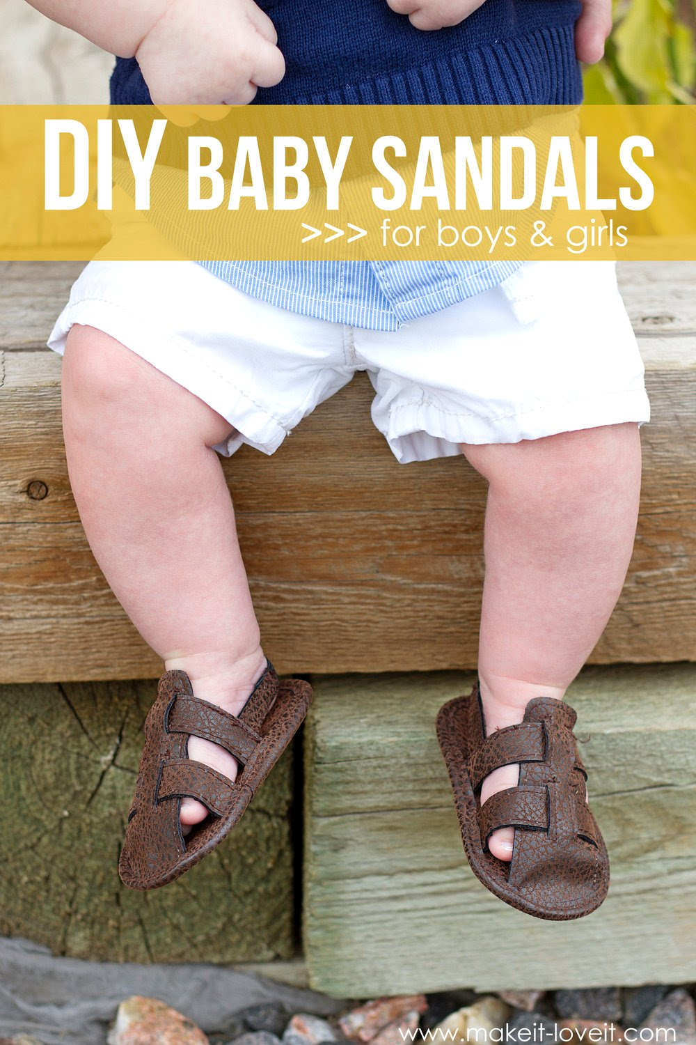 DIY Baby Sandals (for boys & girls)...made from faux leather --- Make It and Love It